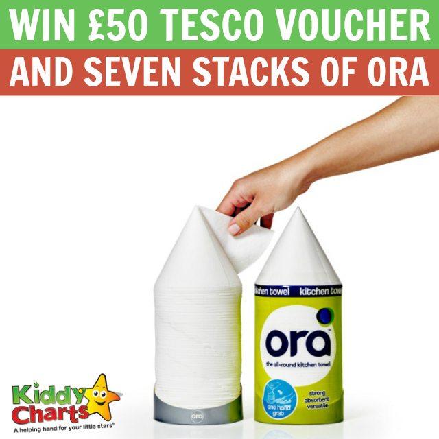 £50 Tesco voucher and seven stacks of Ora