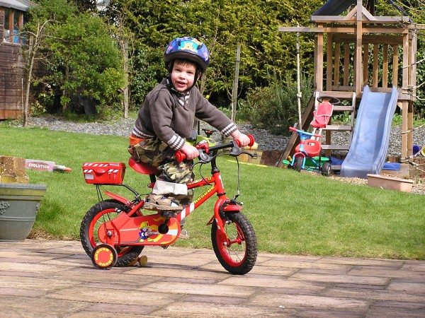 Garden memories: Learning to ride