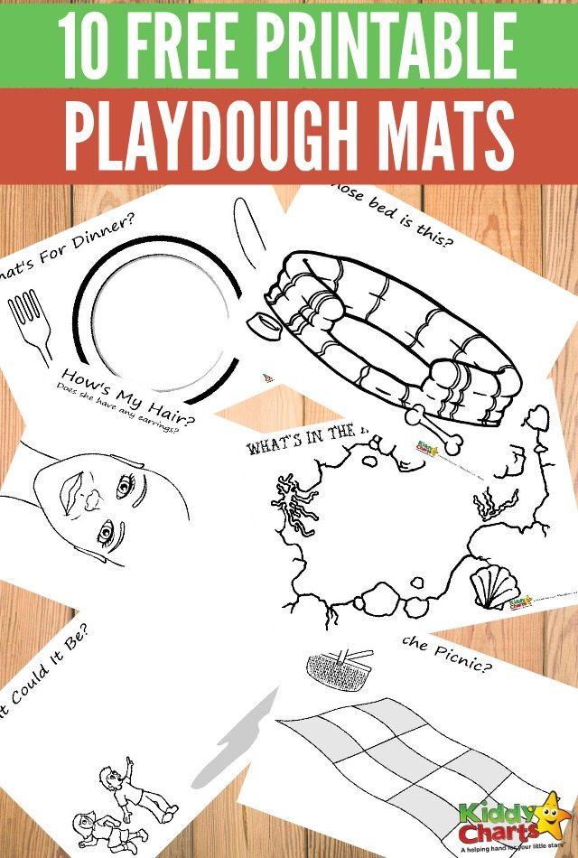 graphic regarding Free Printable Playdough Mats titled 10 free of charge printable playdough mats for magnificent young children enjoyment!