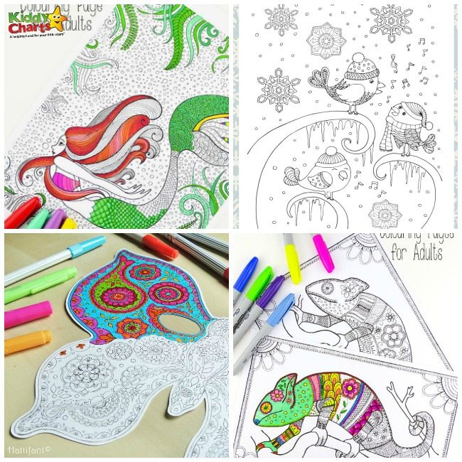 100 + Free Coloring Pages for Grown Ups