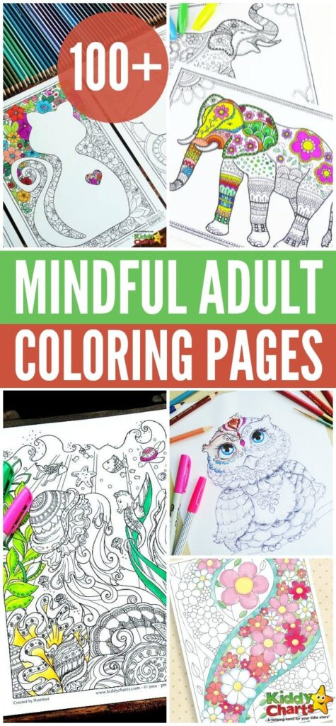 100+ Mindful Adult Coloring Pages for adults
