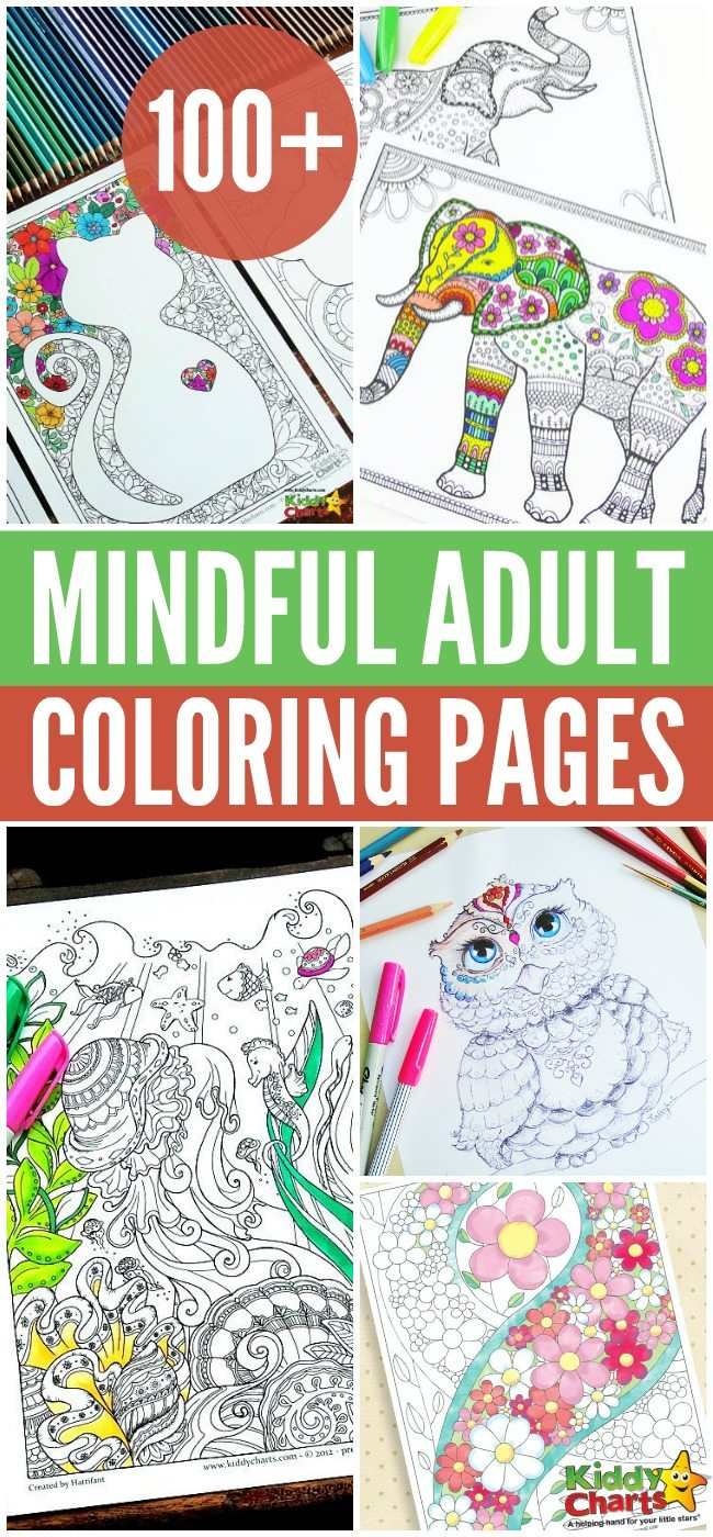 100+ Mindful Adult Coloring Pages