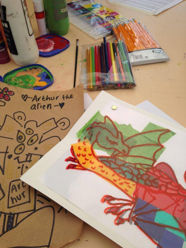 Love Dragon picture from the crafty day - one positive thing to help always look on the bright side of life