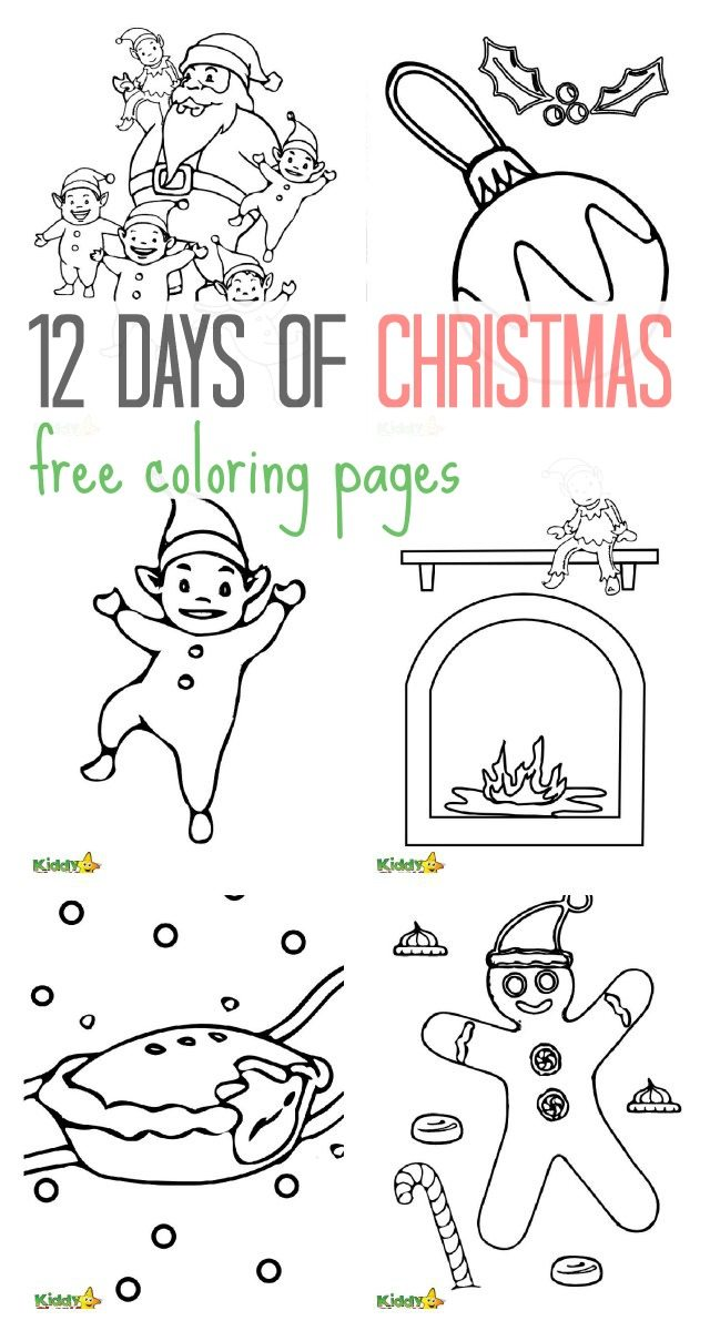 christmas coloring pages 12 days - photo#31