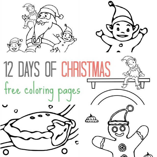 12 free Christmas colouring pages for the kids