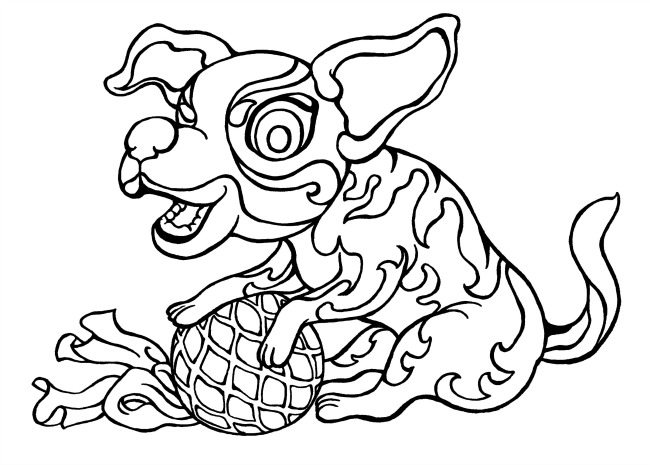 12 Chinese Zodiac animal colouring pages