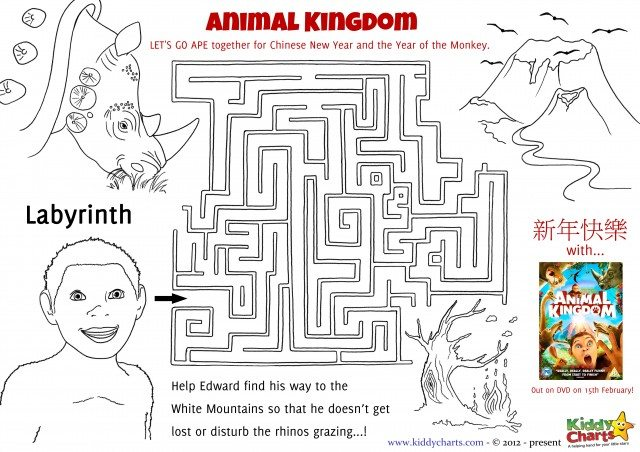 Can you help Edward find his way out of the Maze in our activity sheet from the Animal Kingdom film?