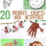 20 cool monkey crafts and activities for kids