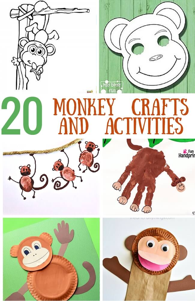 20 Monkey Activities and Crafts