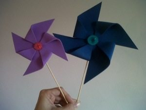 How to make a pinwheel from foam