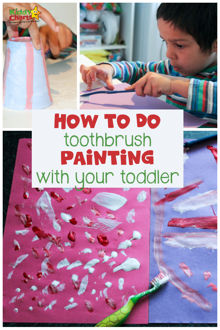 How to do toothbrush painting with your toddlers - its so easy; go take a look NOW! #toddlers #kidsactivities #painting