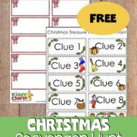 Christmas scavenger hunt free printable clue cards for kids