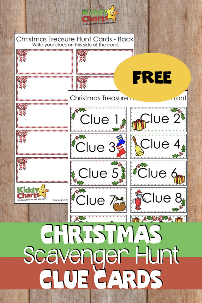 Christmas Scavenger hunt free pages