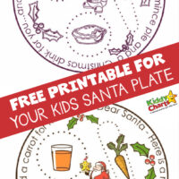 Free Rudolph and Santa plate printable