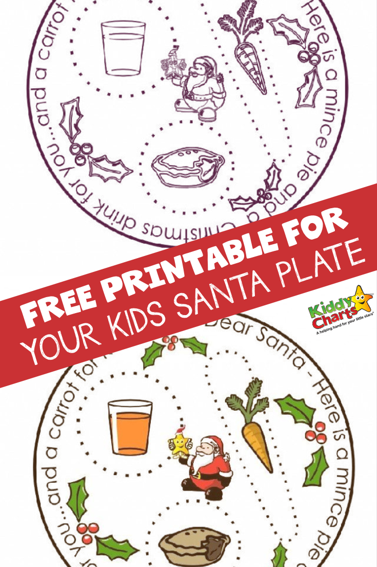 Santa plates are SO MUCH FUN and we have a free printable for you to print out today for your kids one. Visit and get it now! #Christmas #Santa #Xmas