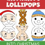 Free templates for turning Chupachups Lollipops into your favourite Christmas Characters - visit and get them FREE now! #Christmas #Stockings #Gifts
