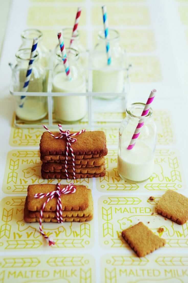 Homemade malted milk biscuits