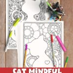 cat mindful coloring session