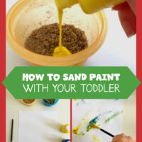Sand painting for toddlers