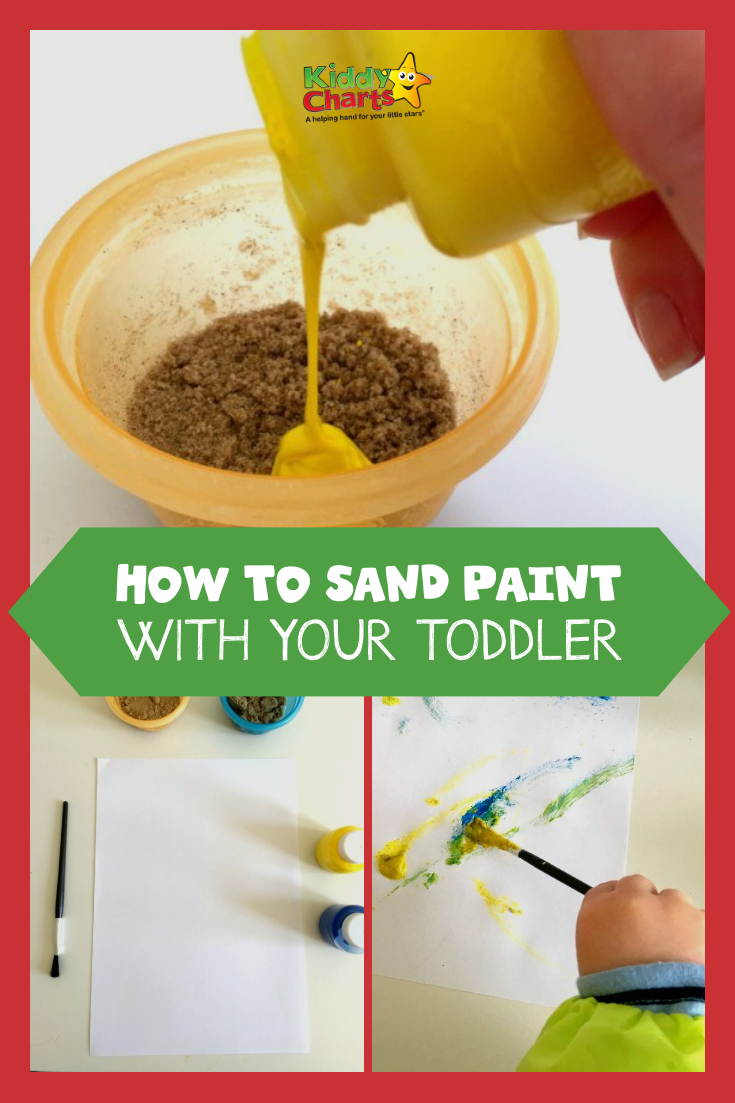 We've got all you need to know on how to sand paint with your toddler - come and see us to find out how much fun it can be! #toddlers #crafts #kidsactivities #painting