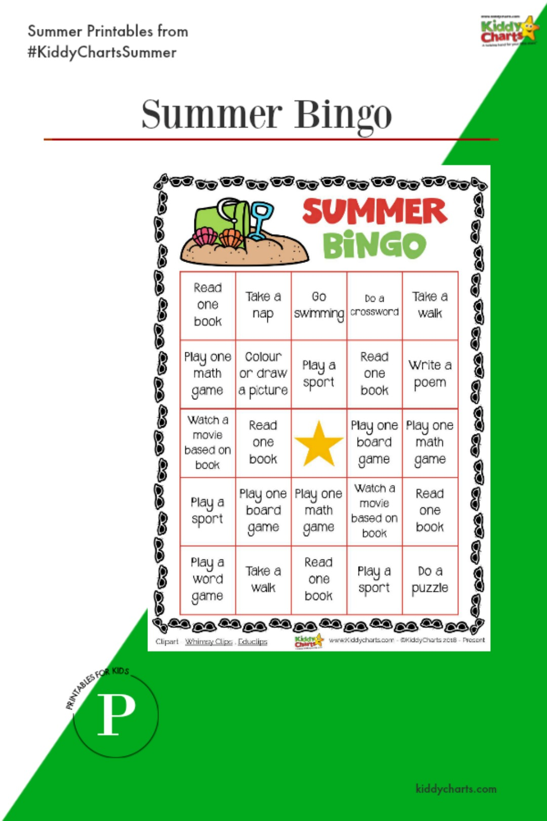 Another great activity in our summer series - Sumemr Bingo - do check out the others in our Summer Coutndown!