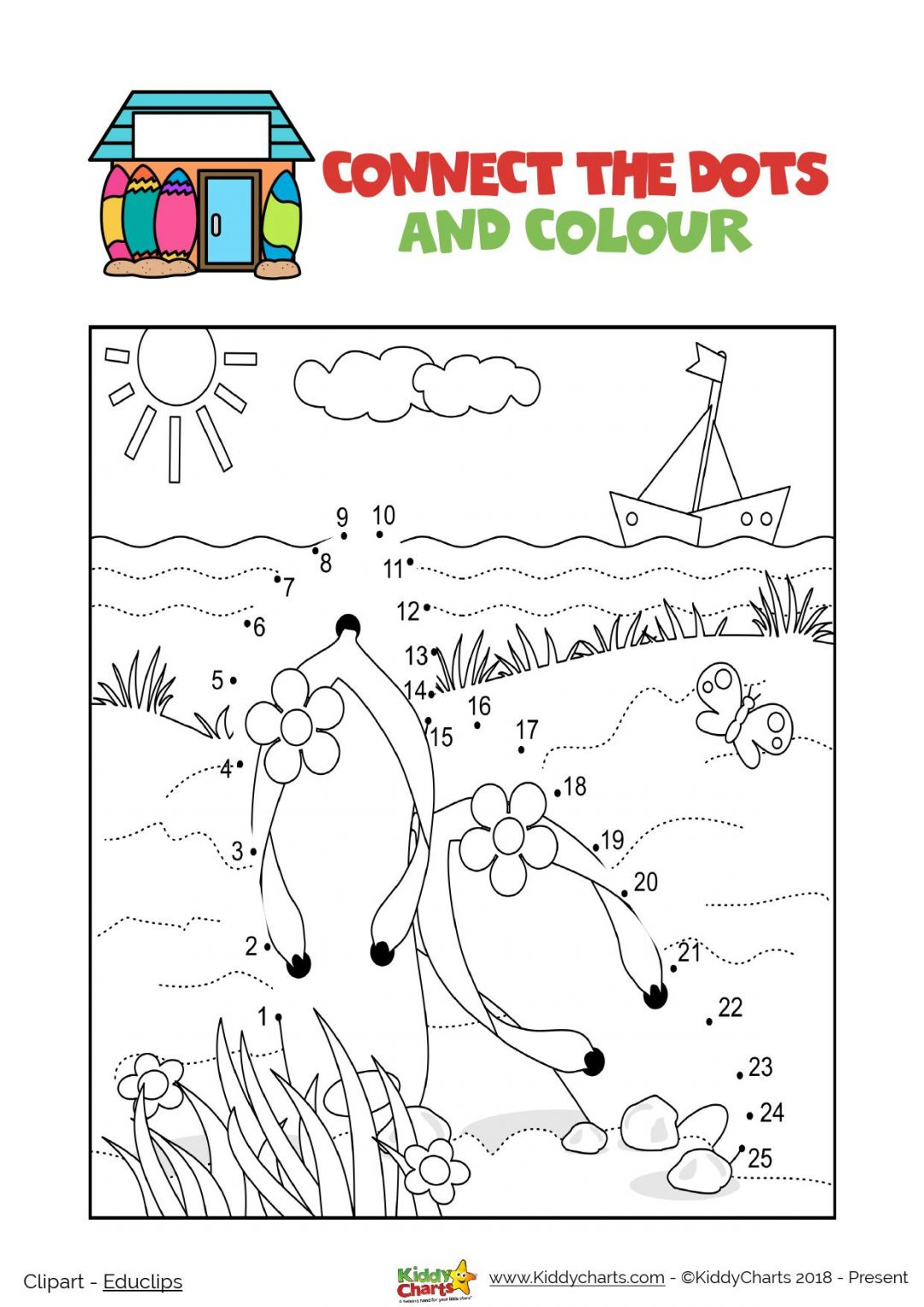 We have a summer activity dot to dot for you today; can you tell what it is? #kids #printables #summer #dottodot