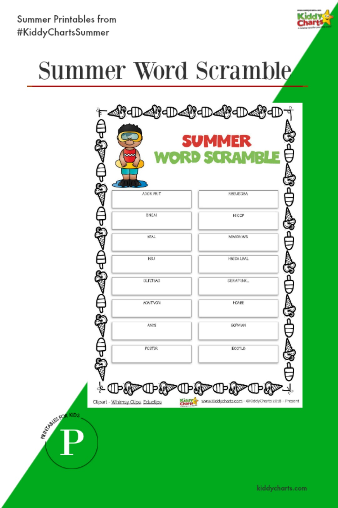 It is a summer word scramble for everyone today - why not check this out alongside all the other summer activities we have on the site for the kids? #summer #kids #activities #printables