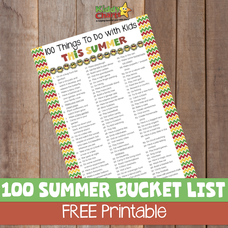 We have a kids summer bucket list for you - an ultimate one! #kids #summer #bucketlist