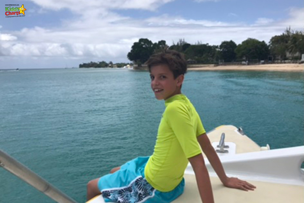 When in Barbados with kids, relax on a Catamaran cruise. See what else we loved when we were there. #Barbados #Caribbean #kids #travel