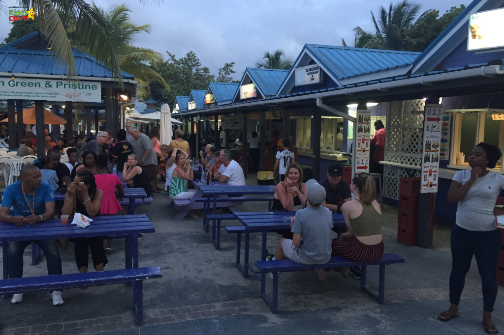 Barbados with kids means Friday Night Fish Fry at Oistins - check it out and the other ideas for visiting there with the kids #Barbados #kids #travel #oistins