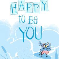Encouraging kids self-esteem: Be Happy to be You baby bird colouring sheets