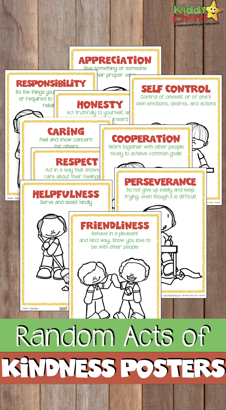 Acts of kindness posters to help kinds understand what kindness actually means #kindness #raok #bekind