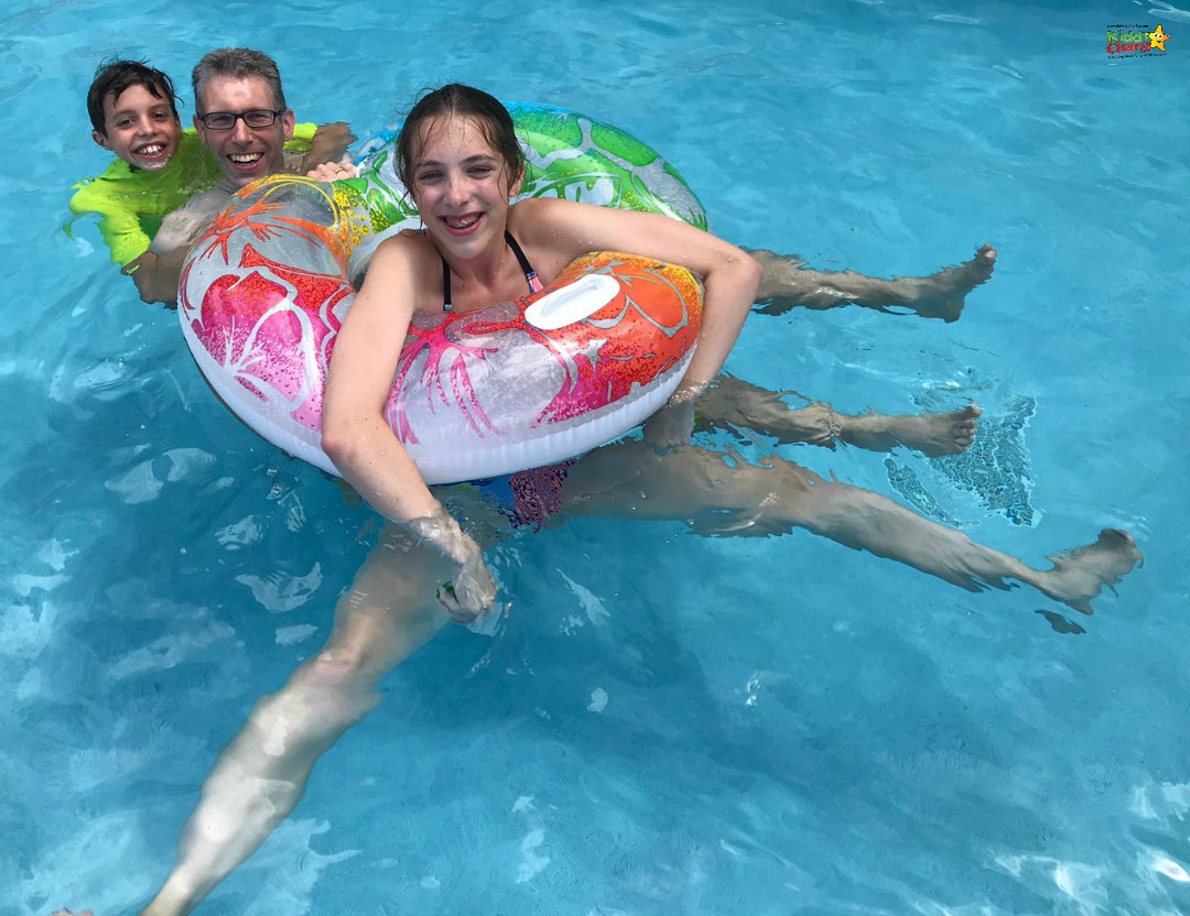 Fun in the lap pool at the family friendly Sea Breeze Beach House - perfect fun in Barbados. See what we thought of it!