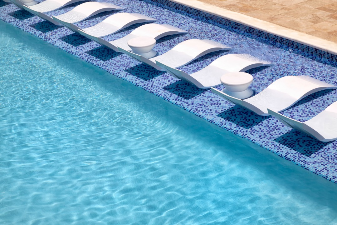 The Lap Pool in the Sea Breeze Beach House is to Die for - relax IN the pool! #Barbado #Caribbean