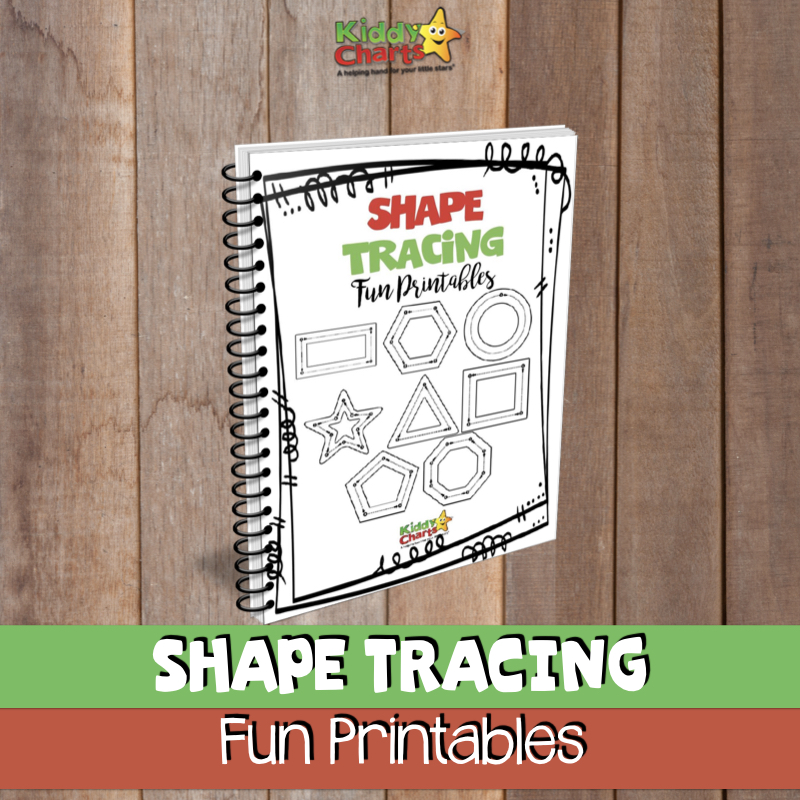 Shape tracing fun printables resources for kids and parents
