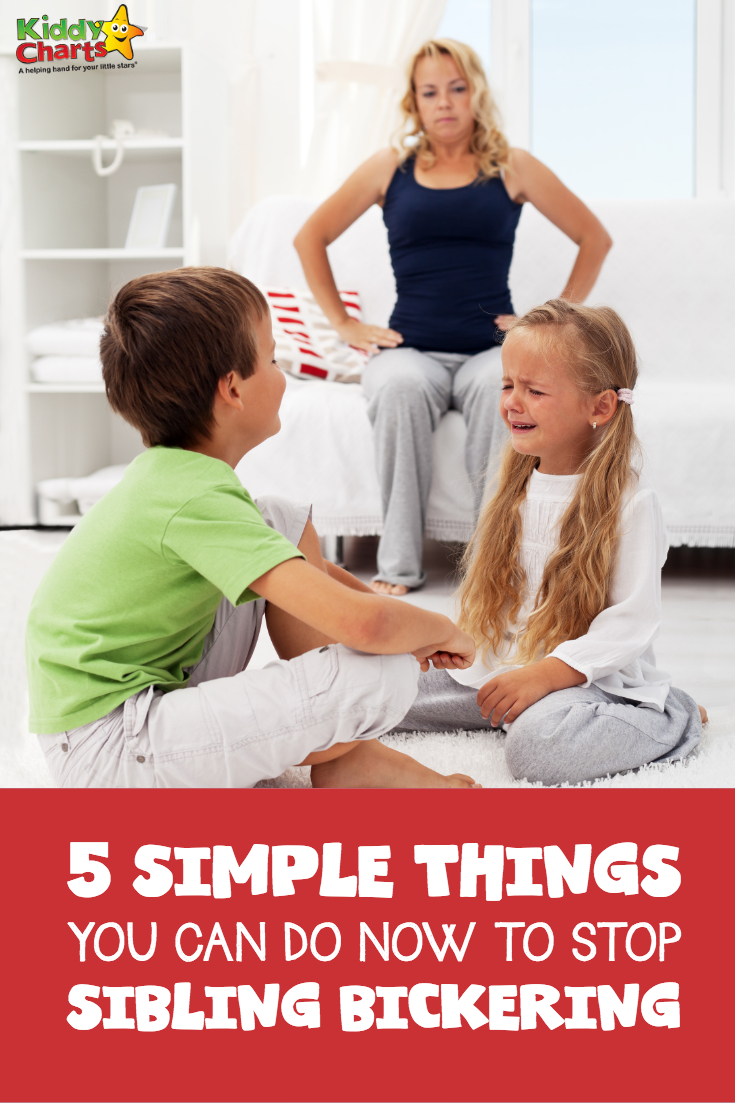 5 simple things you can do NOW to stop sibling bickering