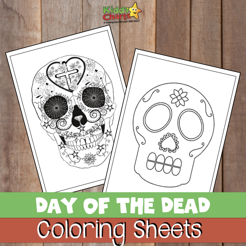 Day of the Dead FREE coloring sheets