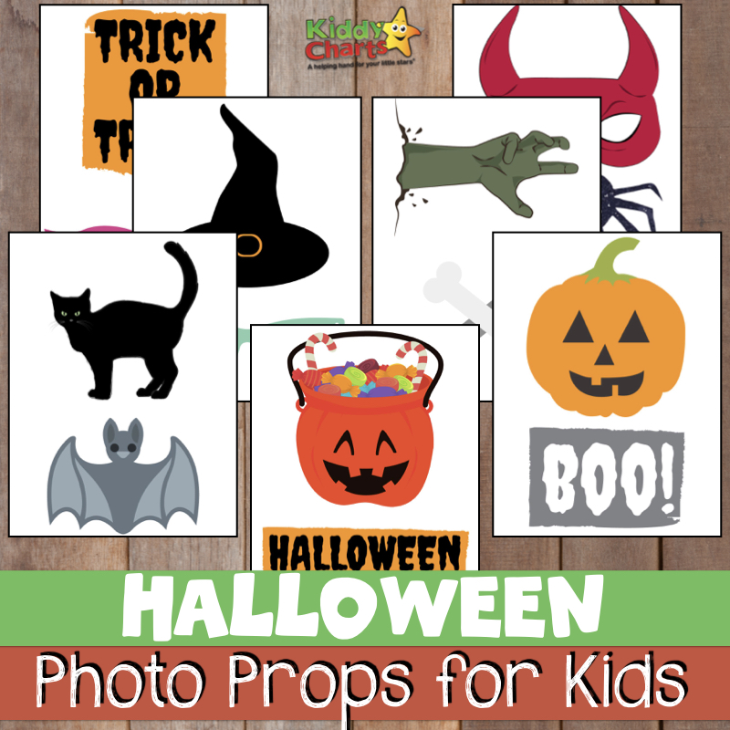 Are you looking for Halloween photo props, or some Halloween party decorations - then we've got some free ones just for you! #halloween #printables #kids #photography #photos
