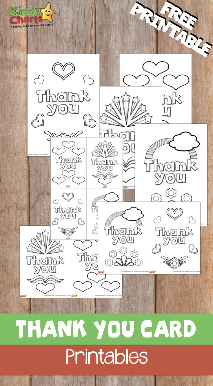 We have some amazing thank you cards for you to download. Go on - do it now #thankyou #kids #printables #free