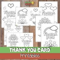 Thank you cards: Free printable #52KindWeeks