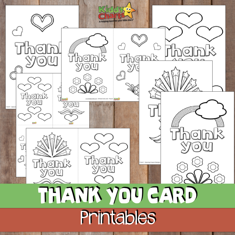 This is a photo of Nerdy Printable Thank You Cards for Kids