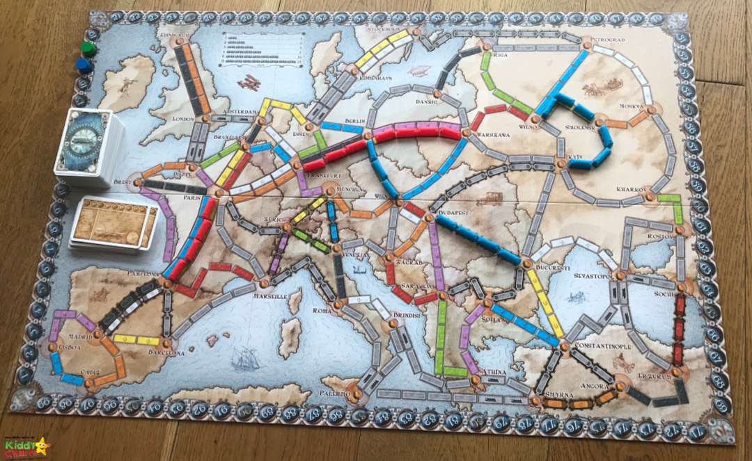We LOVE this Ticket to Ride game, so check out our Ticket to Ride review; its a great game for all the family. #kids #games #rainydays