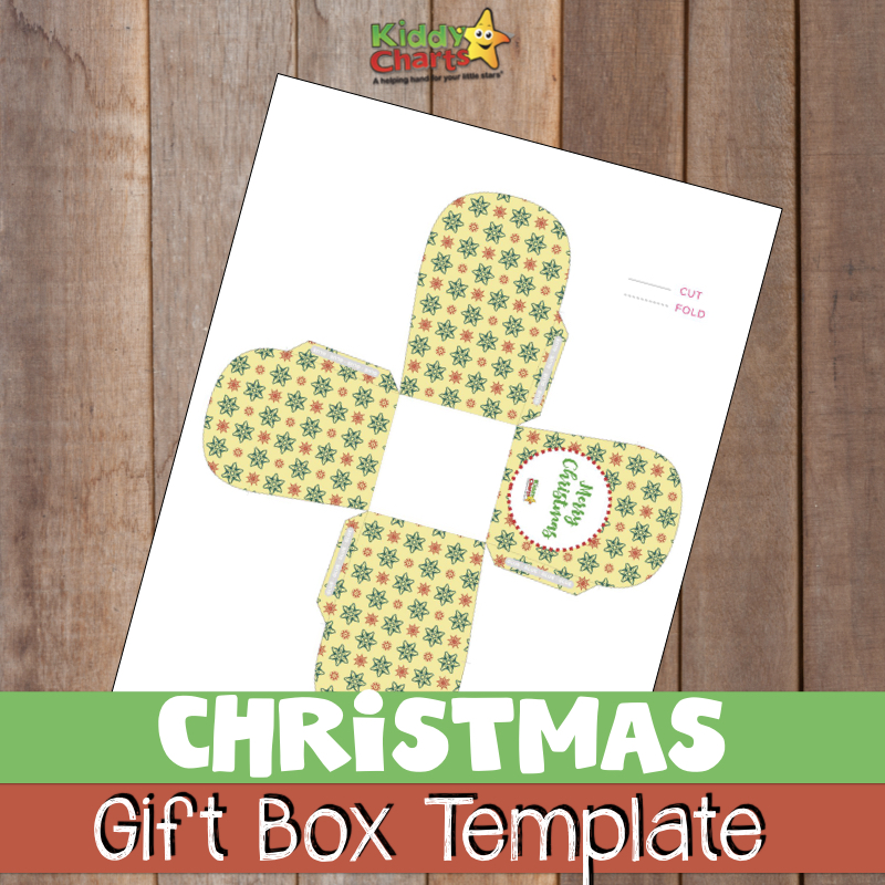 Do you need a free Christmas Gift Box Template - well we've got one! #Christmas #Templates #Gifts #giftbox
