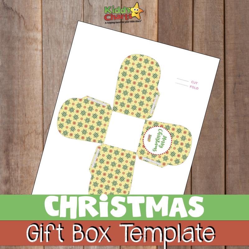 Do you need a free Christmas Gift Box Template - well we've got one! #Christmas #Templates #Gifts #giftbox