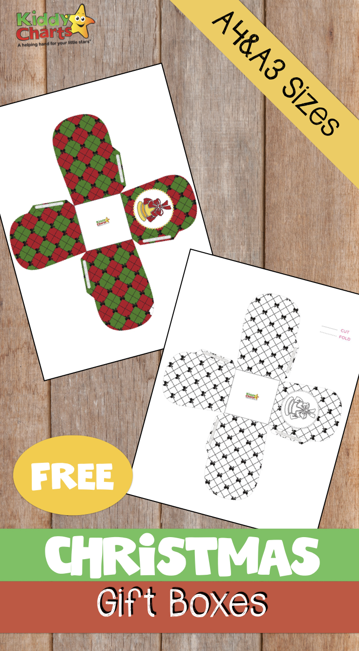 We have some amazing free christmas gift boxes for you to print out - check them out. Kids can colour them in too! #christmas #coloring #kids