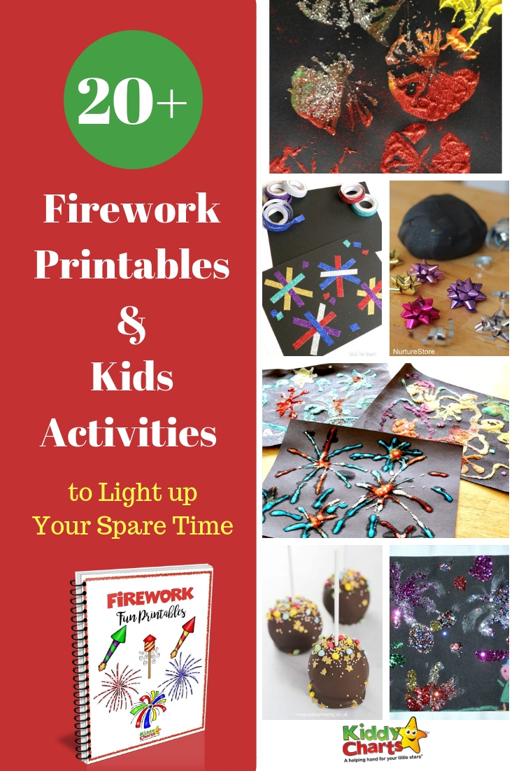 Firework activities and printables to light up your kids spare time! #fireworks #kids #kidsactivities #homeschool