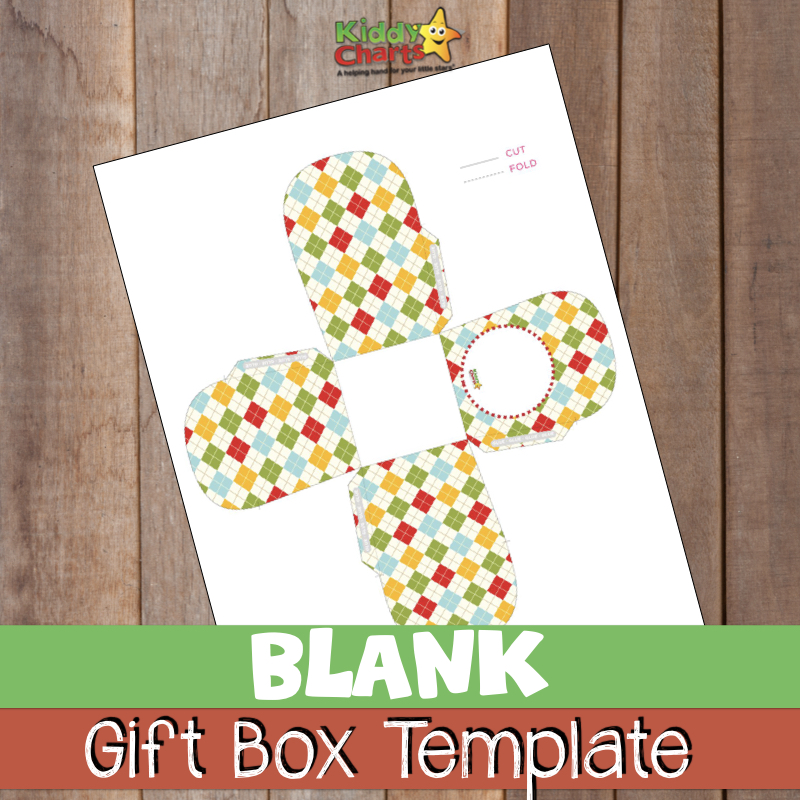 We have a gift box template for you - for anything; birthday gift box, party box, you name it, you can use it. Add your own message too. #gifts #templates #printables #free