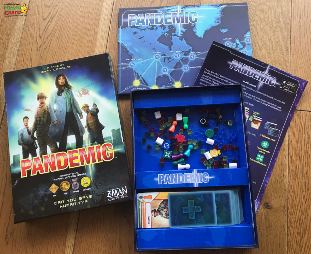 If you are looking for a great family board game - Pandemic has a twist; you play TOGETHER! #games #boardgames #familytime #kidsactivities