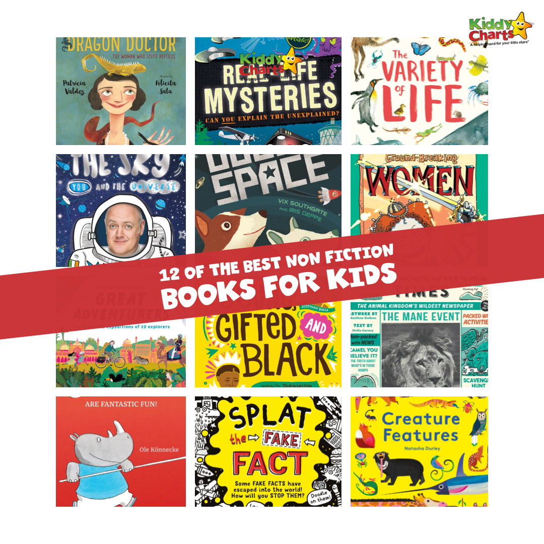 We've got 12 of the best non fiction books for kids - check them out and inspire your your readers TODAY! Non fiction books help to get kids reading. #reading #books #kids #nonfiction