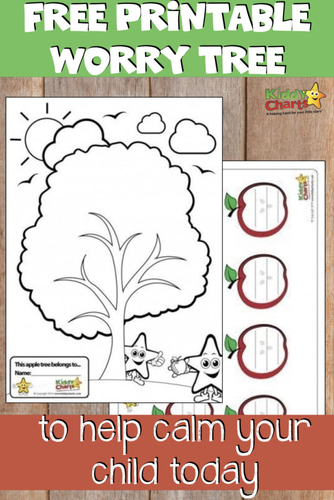 free printable worry tree to help calm your child today